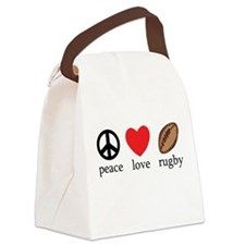 Peace Love Rugby Canvas Lunch Bag