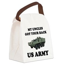 My Uncles Got Your Back ARMY Canvas Lunch Bag