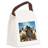 BULLDOG SMILES Canvas Lunch Bag