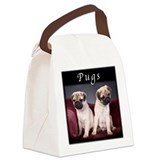 Pug Puppies Canvas Lunch Bag