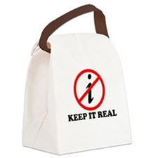 KEEP IT REAL T-SHIRT MATH SHI Canvas Lunch Bag