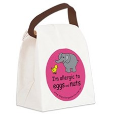 I'm allergic to eggs and nuts Canvas Lunch Bag
