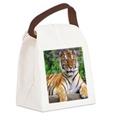 Siberian Tiger Canvas Lunch Bag