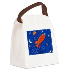 Rocket To the Moon Canvas Lunch Bag