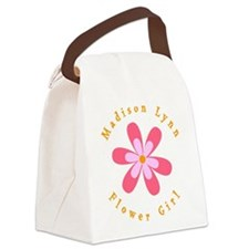 personalized flower girl Canvas Lunch Bag