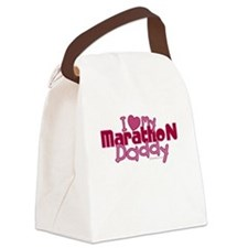 I Love My Marathon Daddy Canvas Lunch Bag