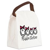 Middle Sis of 4 (Girls) Canvas Lunch Bag