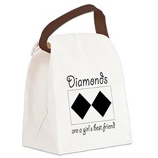 Diamonds are a Girls Best Fri Canvas Lunch Bag