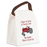 A Red Tractor Like Daddy Canvas Lunch Bag