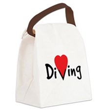 Diving Love Canvas Lunch Bag