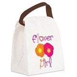 Flower Girl Canvas Lunch Bag