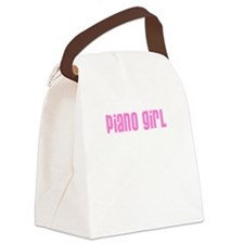 Piano Girl Canvas Lunch Bag