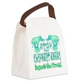 Circus Boycott -Green Canvas Lunch Bag
