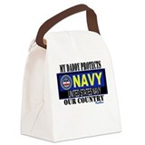 Navy Daddy Canvas Lunch Bag