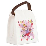 Funtime Flower Girl Canvas Lunch Bag