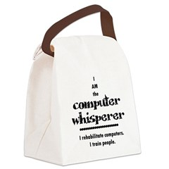 Computer Canvas Lunch Bag