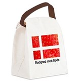 Rodgrod med flode Canvas Lunch Bag