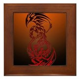 dragon vs phoenix Framed Tile