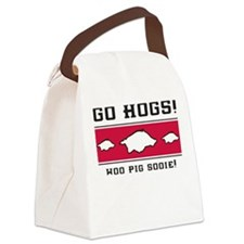 Go Hogs! Canvas Lunch Bag (lt grey or white)