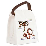 Coral Snake/Milk Snake Canvas Lunch Bag