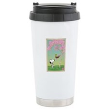 Woodstock in the Cherry Blossoms Ceramic Travel Mu