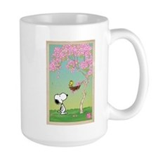 Woodstock in the Cherry Blossoms Ceramic Mugs