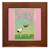 Woodstock in the Cherry Blossoms Framed Tile