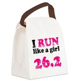 I Run Like a Girl 26.2 Canvas Lunch Bag