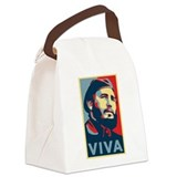 Funny Fidel Canvas Lunch Bag