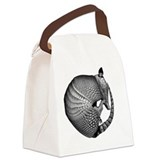 Sleeping Armadillo Canvas Lunch Bag