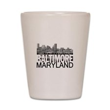 Baltimore Skyline Shot Glass