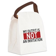 Not An Invitation Canvas Lunch Bag