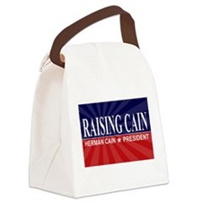 Herman Cain Canvas Lunch Bag