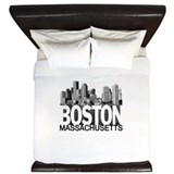 Boston Skyline King Duvet