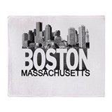 Boston Skyline Throw Blanket