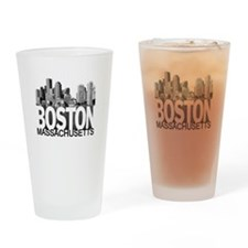 Boston Skyline Drinking Glass