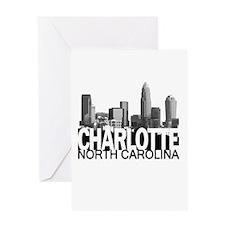 Charlotte Skyline Greeting Card
