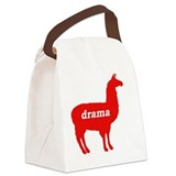 Drama Llama Canvas Lunch Bag