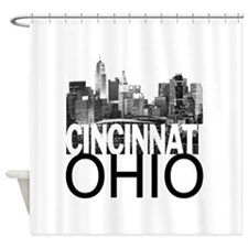 Cincinnati Skyline Shower Curtain