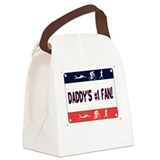 Daddy's #1 Fan Canvas Lunch Bag