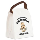 Proud New Grandma Personalized Canvas Lunch Bag