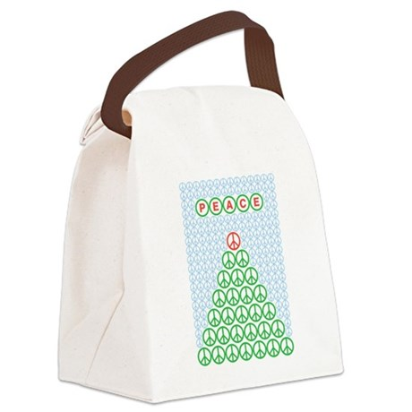 peace_xmas_tree.png Canvas Lunch Bag