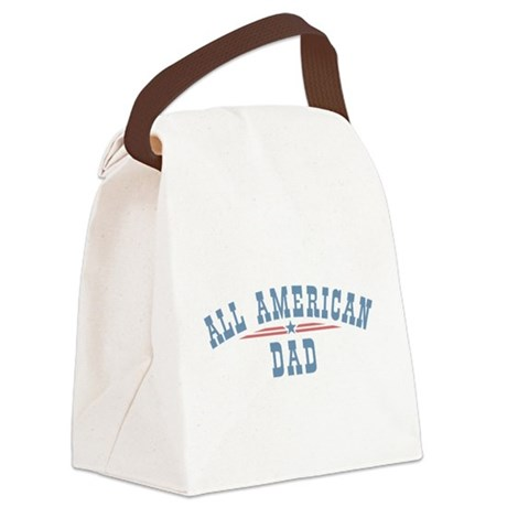 All American Dad Canvas Lunch Bag