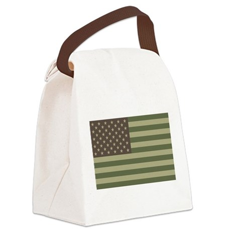 us_flag_camo.png Canvas Lunch Bag