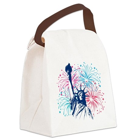 liberty_half.png Canvas Lunch Bag
