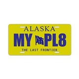 Alaska - The Last Frontier yellow license plate
