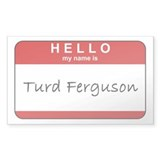 Turd Ferguson Rectangle Decal