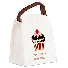 PERSONALIZE Vanilla Cupcake Canvas Lunch Bag