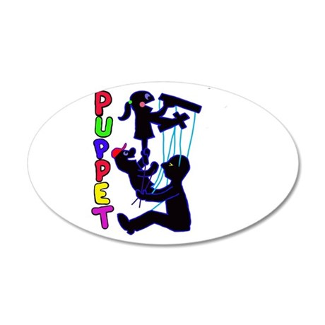 puppets 35x21 Oval Wall Decal