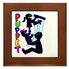 puppets Framed Tile
